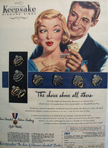 Keepsake Diamond Choice Loveliest Brides Ad 1951