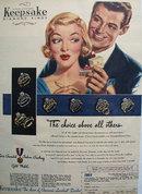 Keepsake Diamond Choice Loveliest Brides Ad 1951
