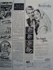 Keepsake Diamond Your Keepsake Forever Ad 1952