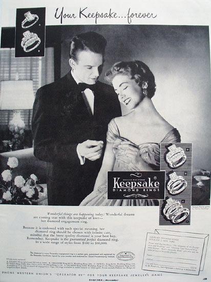 Keepsake Wonderful Things Are Happening Ad 1953