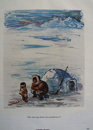 John Groth Alaska Cartoon 1953