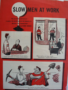 Eldon Dedini  Slow Men At Work Cartoons 1951