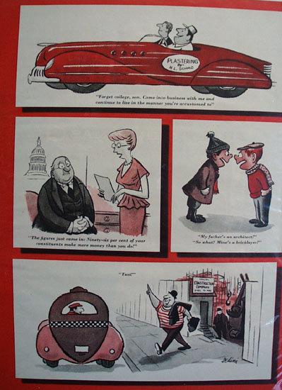 Eldon Dedini  Slow Men At Work Cartoons 1951