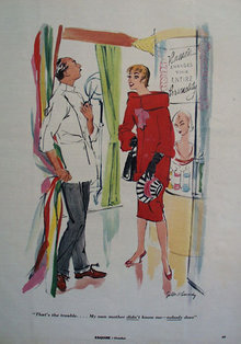 That Is The Trouble Cartoon 1953