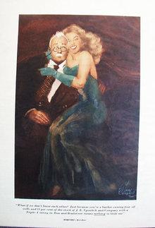 Lady On Mans Lap Cartoon 1949