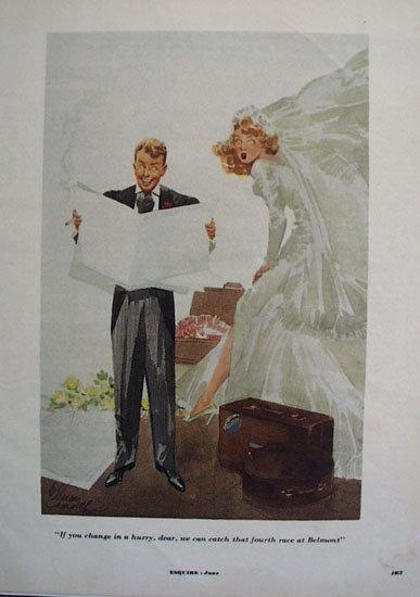 Bride and Groom Cartoon 1953