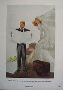 Bride and Groom Cartoon 1953