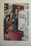 Slot Machine Refrigerator Cartoon 1947