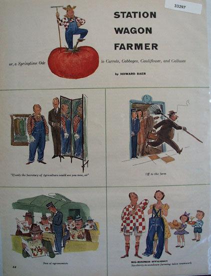 Station Wagon Farmer Cartoon 1953