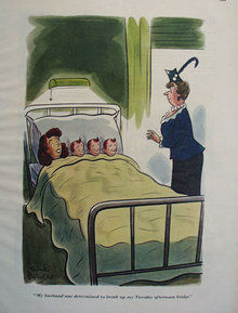 Maternity Ward Cartoon 1947