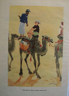 Man On Camel Cartoon 1947