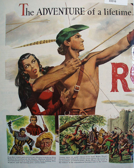 Disney Robin Hood Movie Ad 1952