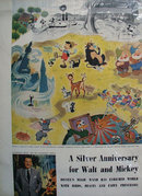 Disney And Mickey Silver Anniversary Ad 1953