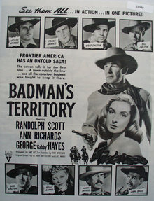 Badmans Territory Movie Ad 1946