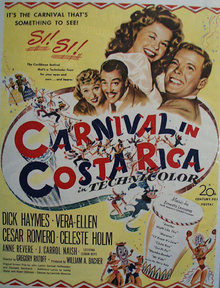 Carnival In Costarica Movie Ad 1947