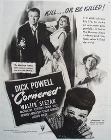 Cornered Movie Ad 1945