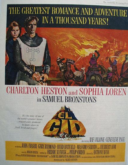 El Gid Movie Ad 1961