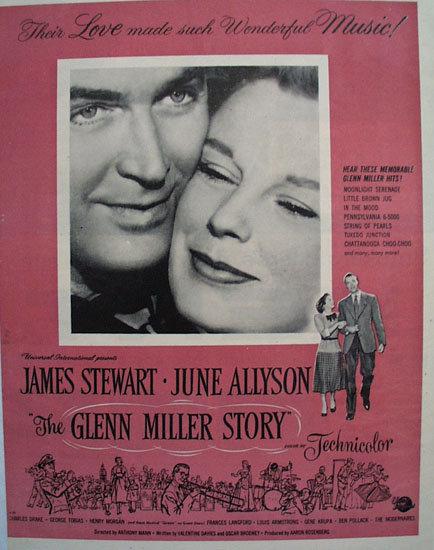 The Glenn Miller Story Movie Ad 1954