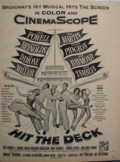 Hit The Deck Movie Ad 1955