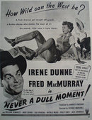 Never A Dull Moment Movie Ad 1950