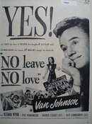 No Leave No Love Movie Ad 1946