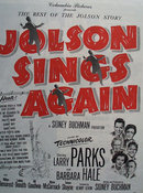 Jolson Sings Again Movie Ad 1949