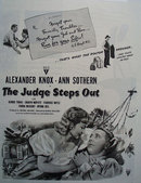 The Judge Steps Out Movie Ad 1949