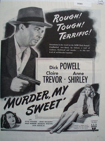 Murder My Sweet Movie Ad 1945