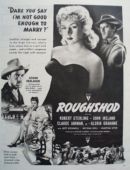 Roughshod Movie Ad 1949