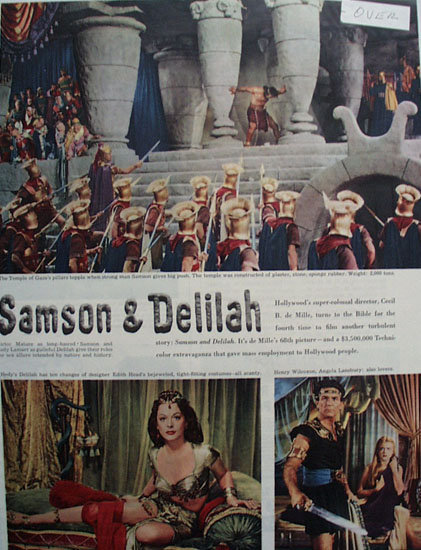 Sampson And Delilah Movie Ad 1949