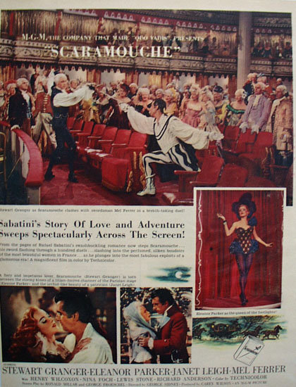 Scaramouche Movie Ad 1952