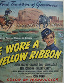 She Wore A Yellow Ribbon Movie Ad 1949
