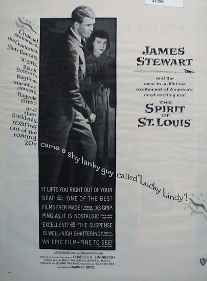 The Spirit of St Louis Movie Ad 1957