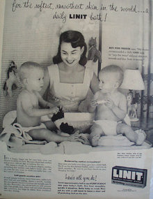 Lint Laundry Starch 1955 Ad
