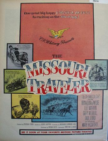 Movie The Missouri Traveler 1958 Ad