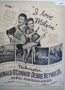 Movie I Love Melvin 1953 Ad.