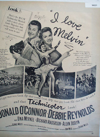 Movie I Love Melvin 1953 Ad.