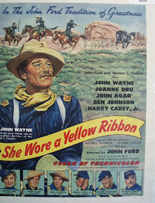 Movie She Wore A Yellow Ribbon 1949 Ad