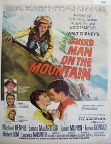 Movie Third Man On The Mountain 1959 Ad.