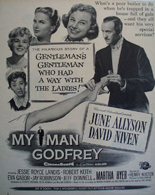 Movie My Man Godfrey 1957 ad
