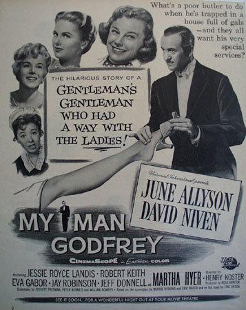 Movie My Man Godfrey 1957 ad