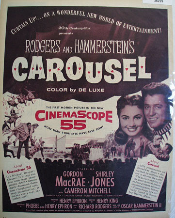 Movie Rogers And Hammersteins Carousel 1956 Ad