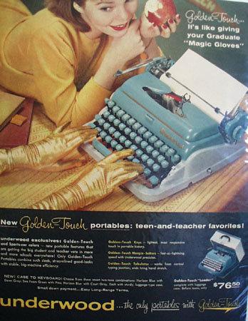 Underwood Portables Typewriter 1957 Ad