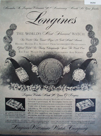 Longines Wittnauer Watch Co. 1956 Ad