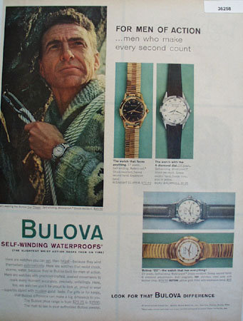 Bulova Sea Clipper Watch 1959 Ad