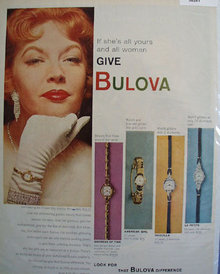 Bulova Miss America Watch 1958 Ad