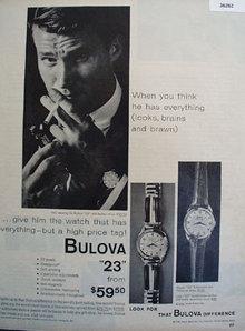 Bulova 23 Watch 1958 Ad