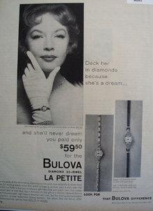 Bulova La Petite Watch 1958 Ad