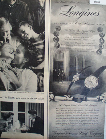 Longines Worlds Most Honored Watch 1956 Ad