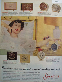 Sessions Alarm Clock 1955 Ad